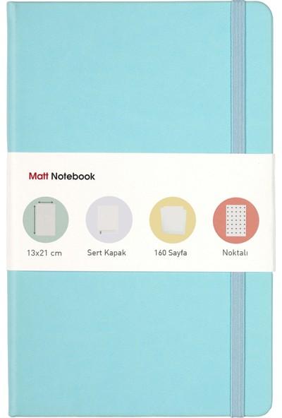 Matt Notebook Lastikli Defter Noktalı 13 x 21 cm Mavi