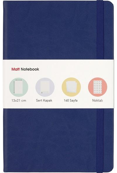 Matt Notebook Lastikli Defter Noktalı 13 x 21 cm Lacivert