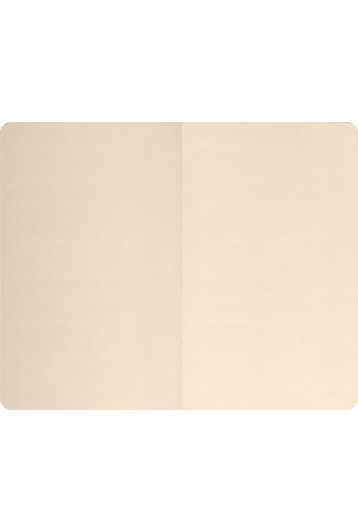 Matt Notebook Lastikli Defter Düz 13 x 21 cm Bej