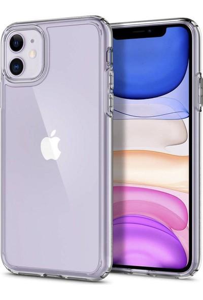 Toucan Apple iPhone 11 Kılıf Crystal Sert Silikon 4 Tarafı Tam Koruma - Şeffaf