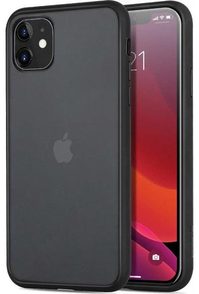 Toucan Apple iPhone 11 Kılıf Mat Silikon 4 Tarafı Tam Koruma - Siyah