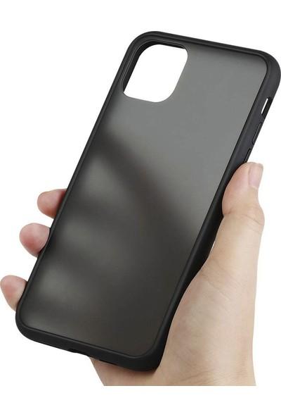 Toucan Apple iPhone 11 Pro Kılıf Mat Silikon 4 Tarafı Tam Koruma - Siyah