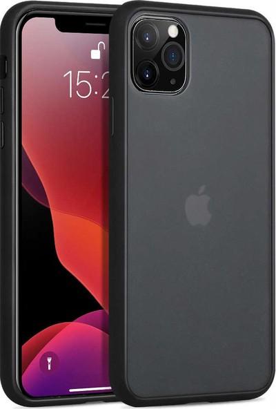 Toucan Apple iPhone 11 Pro Max Kılıf Mat Silikon 4 Tarafı Tam Koruma - Siyah
