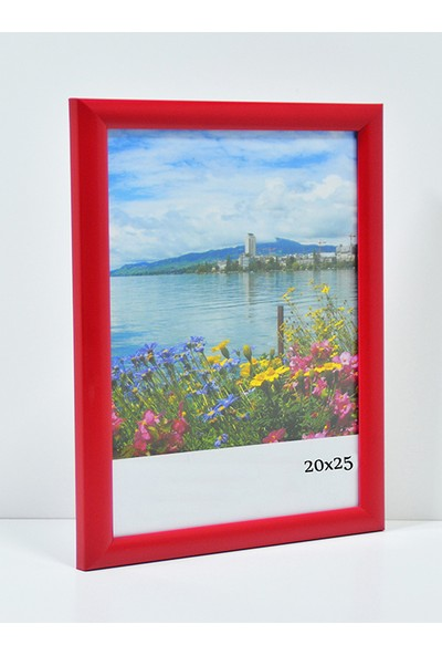 Özcanlar Kişiye Özel Resim Çerçevesi 20 x 25 cm Kırmızı