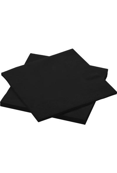 Story 33 x 33 cm 2 katlı 20'li Siyah Peçete