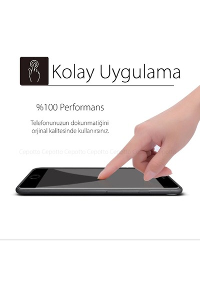 Idubi Apple iPhone 6 Tam Kaplayan 5D Cam Ekran Koruyucu Siyah