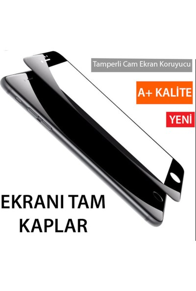 Idubi Apple iPhone 6 Plus Tam Kaplayan 5D Cam Ekran Koruyucu Siyah