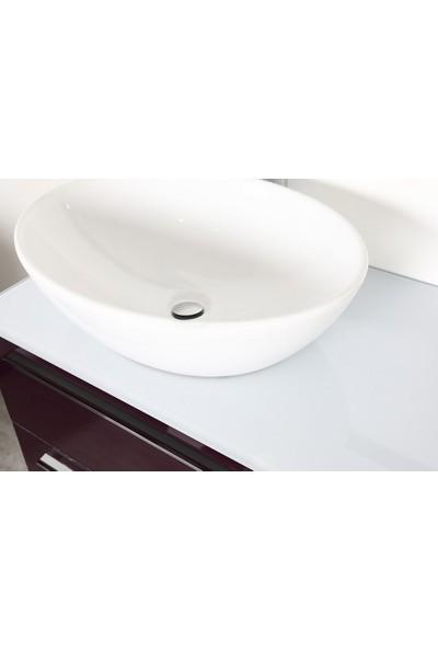 Bagnotti Crux 100 cm Glossmax Parlak Antrasit Banyo Dolabı