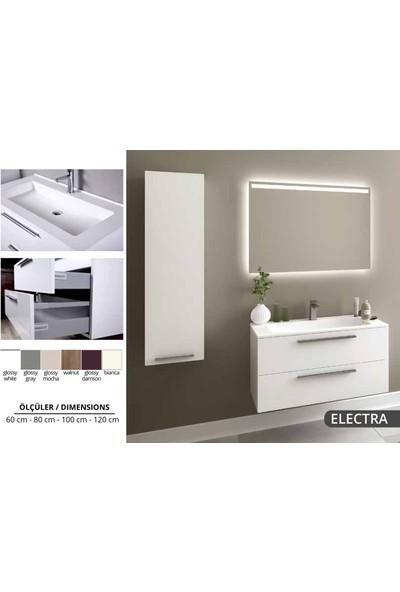 Bagnotti Electra 120 cm Glossmax Parlak Beyaz Banyo Dolabı