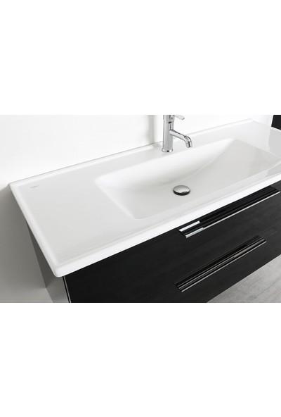 Bagnotti Electra 120 cm Glossmax Parlak Siyah Banyo Dolabı