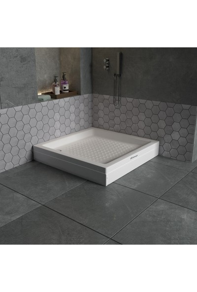 Dbbanyo Kare Duş Teknesi Panelli 100*100*20 cm
