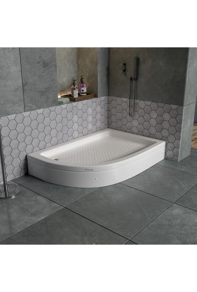 Db Banyo Sağ Asimetrik Duş Teknesi Panelli 70 x 100 x 20 cm