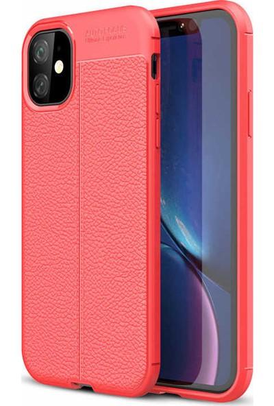 Livadi iPhone 11 Kılıf Niss Silikon Yeni Nesil Tam Koruma Kılıf - Kırmızı