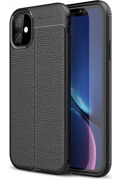 Livadi iPhone 11 Kılıf Niss Silikon Yeni Nesil Tam Koruma Kılıf - Siyah