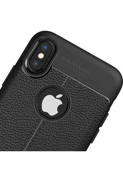 Livadi iPhone X Kılıf Niss Silikon Yeni Nesil Tam Koruma Kılıf - Siyah