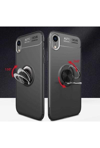 Livadi iPhone X Kılıf Yüzüklü Araç İçi Mıknatıslı Yeni Nesil Tam Koruma Kılıf - Rose Gold