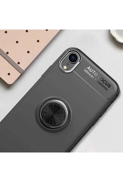Livadi iPhone XS Max Kılıf Yüzüklü Araç İçi Mıknatıslı Yeni Nesil Tam Koruma Kılıf - Kırmızı
