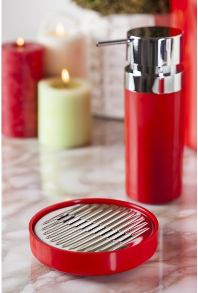 Primanova Lenox 5'li Banyo Seti Kırmızı