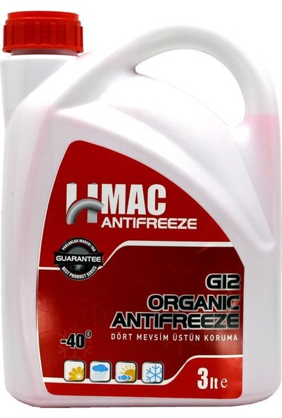 H-Mac G12 Organik Kırmızı Antifriz -40 Derece 3 Lt (2019 Üretim)