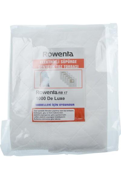 Rowenta Rb 17 - 1000 Deluxe Süpürge 3 Katlı Bez Toz Torbası - 5 Adet