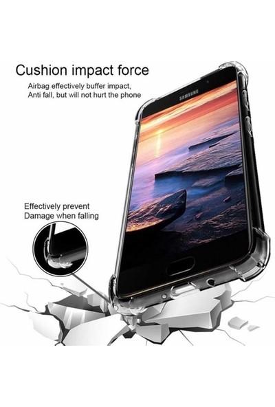 Ehr. Huawei Y9 Prime 2019 Dört Köşeli Anti Crack Soft TPU Silikon Kılıf Şeffaf
