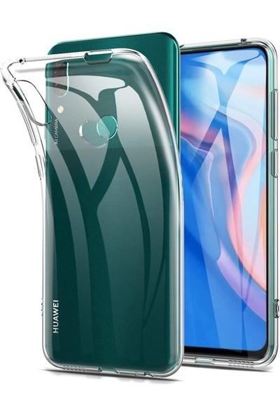 Ehr. Huawei Y9 Prime 2019 Ultra İnce Soft Şeffaf TPU Silikon Kılıf + Nano Ekran Koruyucu Cam Şeffaf
