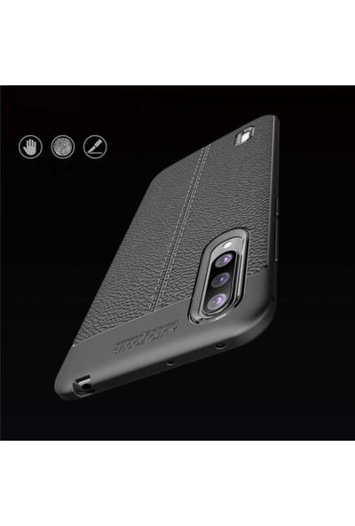 Ehr. Xiaomi Mi 9 Lite Deri Dokulu Missing Kılıf Lacivert