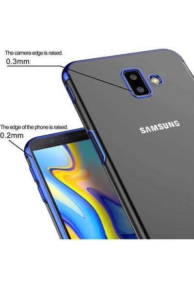 Ehr. Samsung Galaxy J6 Prime Plating 3D Lazer Kaplama Kılıf Kırmızı