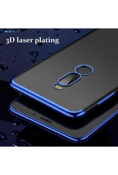 Ehr. Meizu Note 8 Plating 3D Lazer Kaplama Kılıf Mavi
