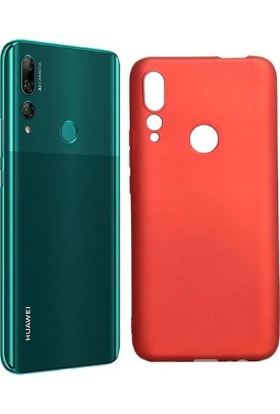 Ehr. Huawei Y9 Prime 2019 Soft TPU Priming Kılıf + Nano Ekran Koruyucu Kırmızı