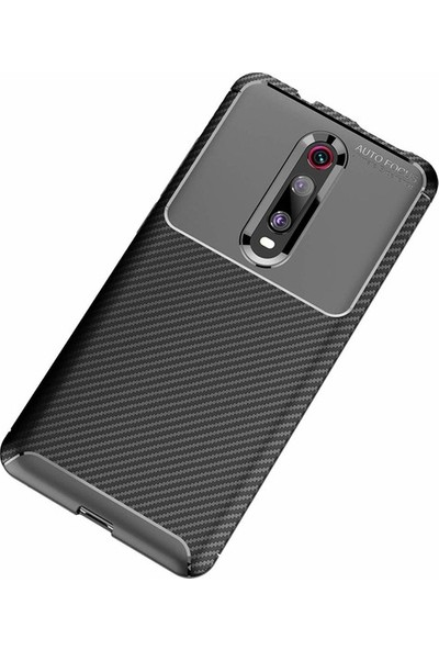 Ehr. Xiaomi Redmi K20 Karbon Brushed Megro Arka Kapak Siyah