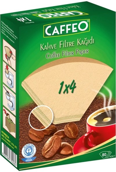 Caffeo Kahve Filtre Kağıdı 80 Adet