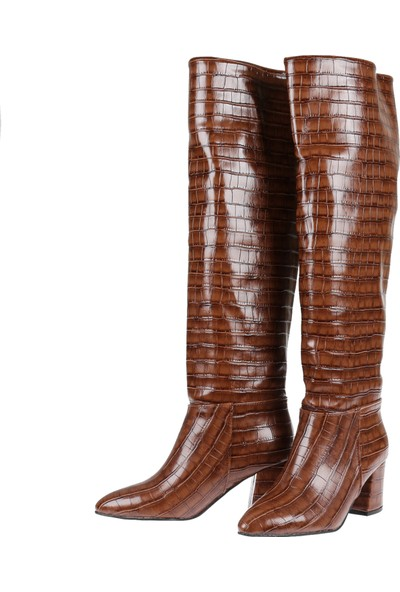 Shalin Kadın Çizme 10300 Kahve