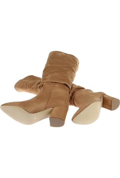 Shalin Kadın Çizme 10500 Taba Süet