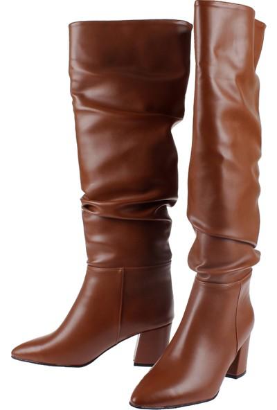 Shalin Kadın Çizme 10500 Taba