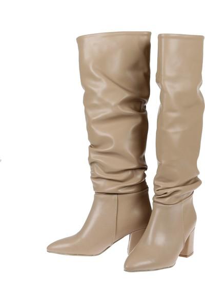 Shalin Kadın Çizme 10500 Ten Mat