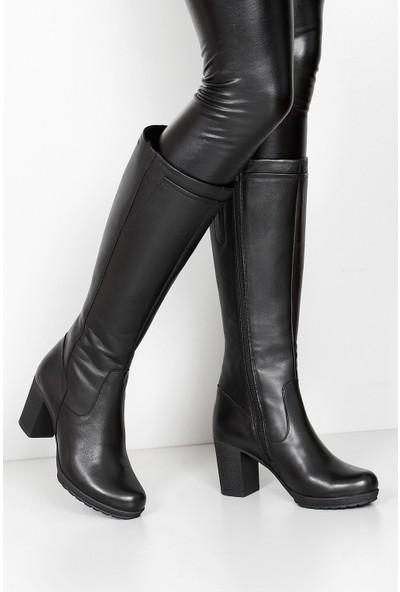 Gön Hakiki Deri Kadın Günlük Çizme 44536