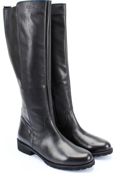 Gön Hakiki Deri Kadın Günlük Çizme 44551
