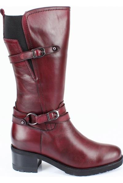 Gön Hakiki Deri Kadın Günlük Çizme 44560