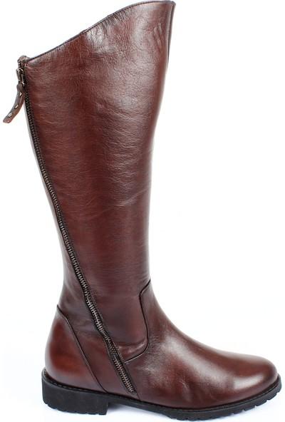 Gön Deri Kadın Günlük Çizme 44556