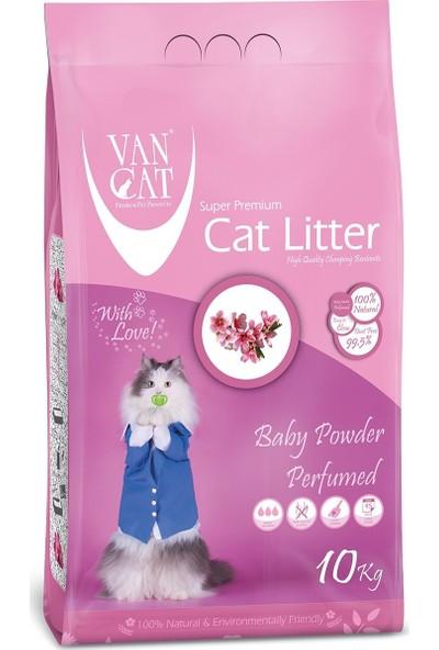 Vancat Baby Powder Kokulu Kalın Taneli Kedi Kumu 10 kg