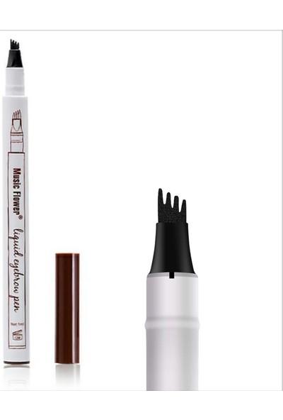 Bundera Microblading Kıl Tekniği Dövme Kaş Kontürü Kalemi Suya Dayanıklı Kalıcı Makyaj