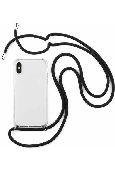 Vip Plus Apple iPhone XS Max Boyuna Askılı Silikon Kılıf + Nano Ekran Koruyucu