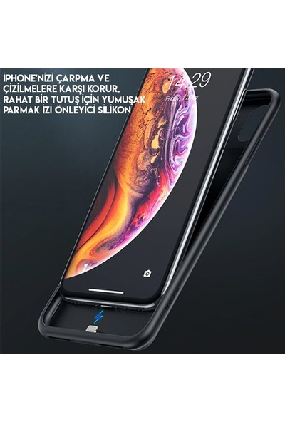 Baseus ACAPIPH58-ABJ01 Liquid Apple iPhone X/XS 3300 mAh Power Bank Kılıf Siyah