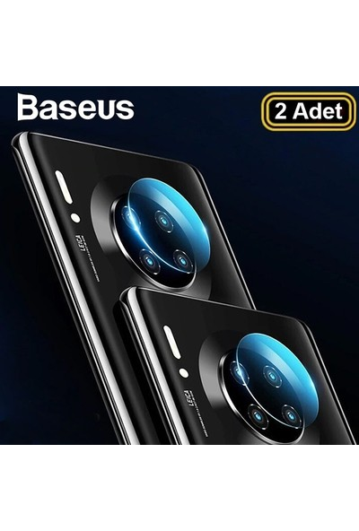 Baseus SGHWMATE30-JT02 Huawei Mate30/30 Pro Kamera Koruyucu 2 Adet Set Şeffaf