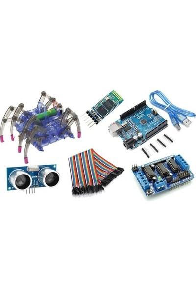 Robot Diyarı Arduino Bluetooth Kontrollü Örümcek Robot Kiti