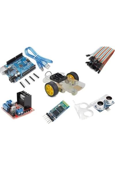 Robot Diyarı Arduino Bluetooth Robot Araba Kiti 2WD