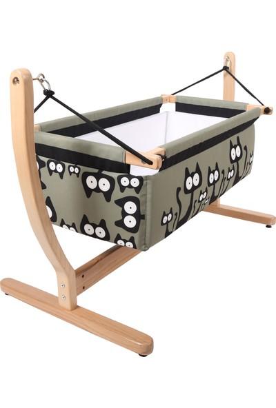 Makeart Baby Ahşap Hamak Beşik 00101