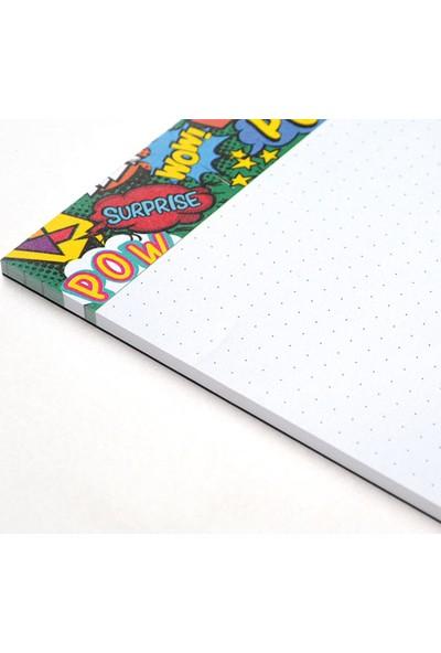 Pulp Pop Art Noktalı Notepad (A5)