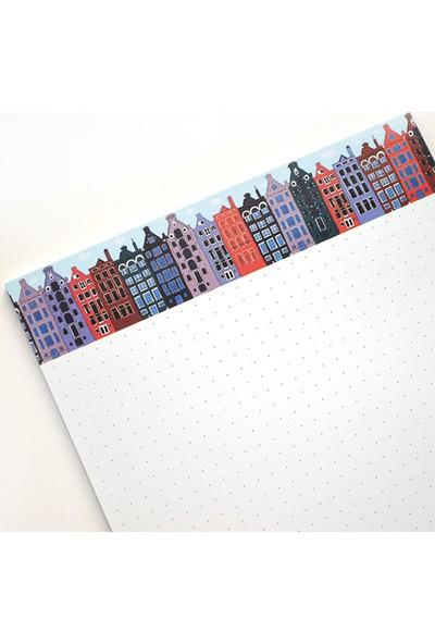 Pulp Cityscape Noktalı Notepad (A5)